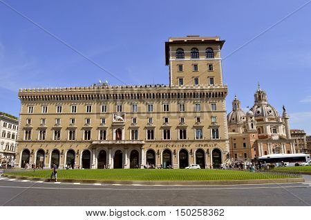 Rome Italy - September 12 2016 : Assicurazioni Generali insurance company building in Rome