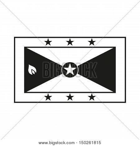Grenada flag. Icon Created For Mobile Web Decor Print Products Applications. Black icon isolated on white background. Vector illustration.