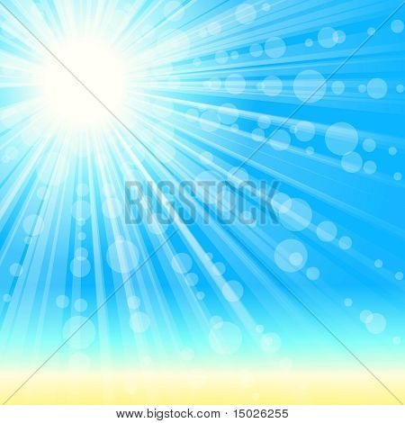 Summertime beach background with transparencies.