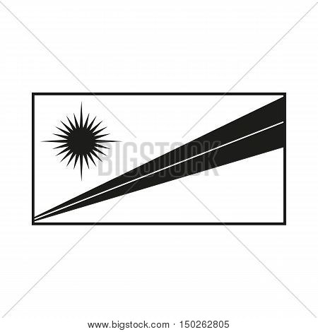 Marshall Islands Flag Icon Created For Mobile Web Decor Print Products Applications. Black icon isolated on white background. Vector illustration.