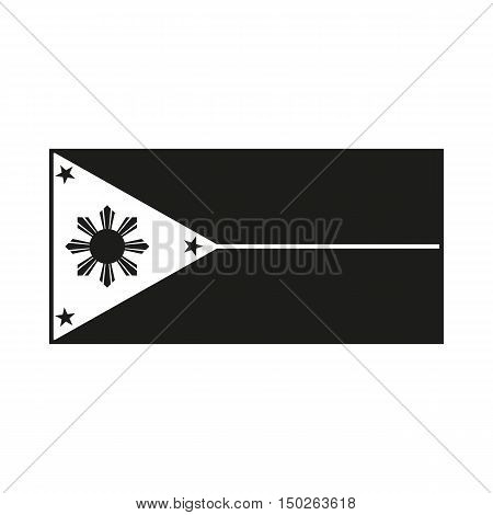 philippines flag Icon Created For Mobile Web Decor Print Products Applications. Black icon isolated on white background. Vector illustration.