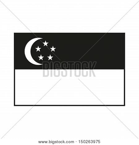 Republic of Singapore flag. The Singapore is a member of Asean Economic Community AEC. Icon Created For Mobile Web Decor Print Products Applications