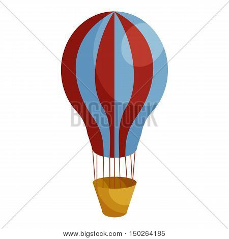 Hot air balloon icon in cartoon style isolated on white background vector illustration