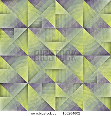 Raster Seamless Irregular Vintage Pattern. Abstract Geometric Background Design