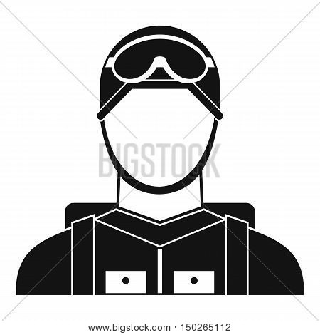 Military paratrooper icon in simple style isolated on white background vector illustration