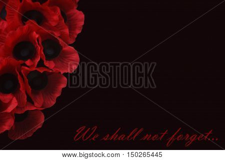 Abstract creative we shall not forget Remembrance Day scene