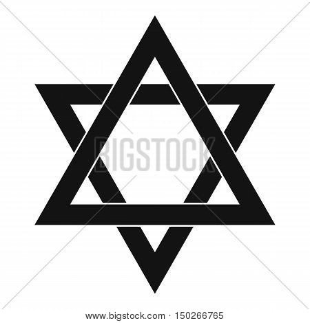 Star of David icon in simple style on a white background vector illustration