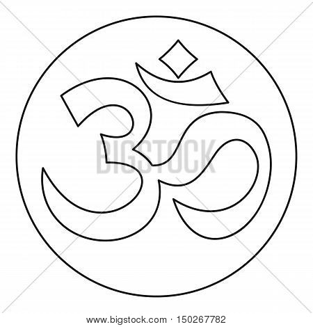 Om sign icon in outline style on a white background vector illustration