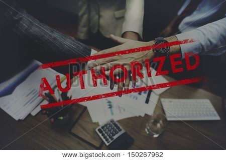 Authorized Allowance Permission Permit Approve Concept