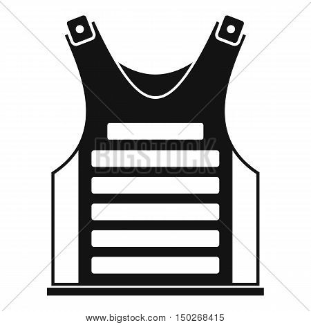 Paintball vest icon in simple style on a white background vector illustration