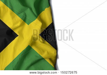Jamaican Wrinkled Flag, Space For Text