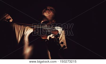Act Of A Violin Player