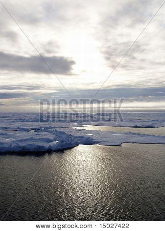 Landscape in the Arctic sea