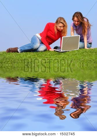 Girls With Notebook