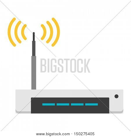 Wi-fi modem router isolated on white