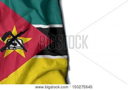 Mozambique Wrinkled Flag, Space For Text