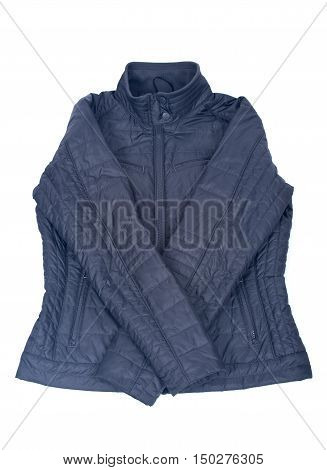 Cool winter jacket separated on white background