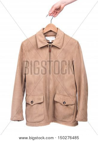 Cool fall jacket separated on white background