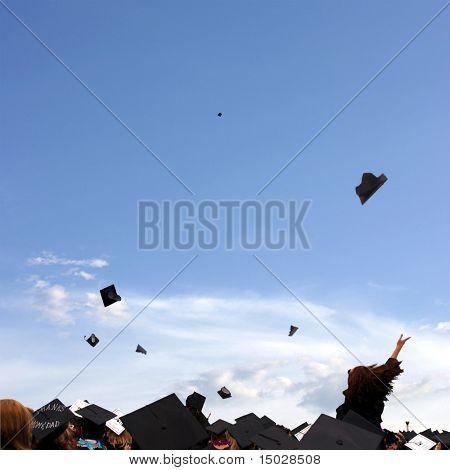 Graduation celebration at university