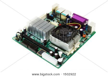 Mini-Itx Motherboard (Isolated On White)