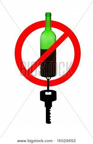 Prohibiting Symbol Of Drunk Driving