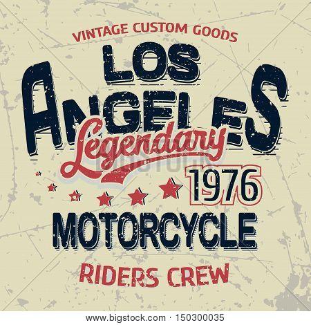 T-shirt graphic design grunge print stamp legend vector