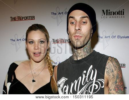 Travis Barker and Shanna Moakler at the Art of Elysium Presents Russel Young 'fame, shame and the realm of possibility' held at the Minotti Los Angeles in West Hollywood, USA on November 30, 2005.