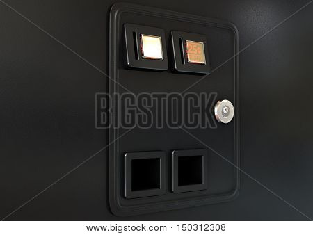 Arcade Machine Coin Slot Panel