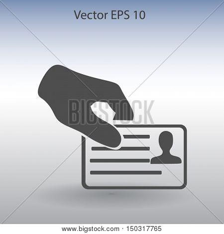 Permit vector icon