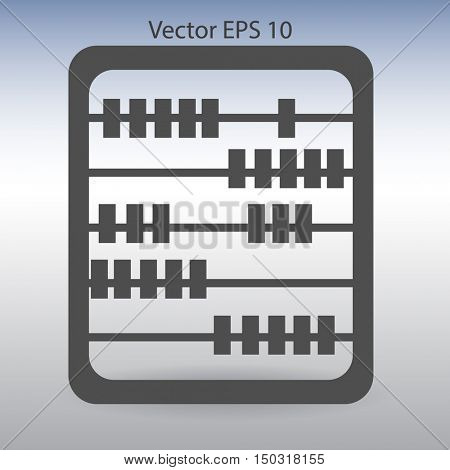 abacus for counting vector illustration