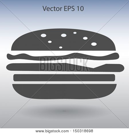 Flat a cheeseburger icon.