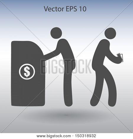 cash withdrawal vector illustration