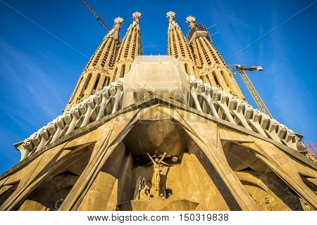 Sagrada Familia In Barcelona Spain