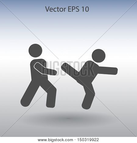fight vector icon