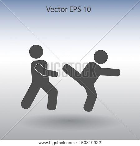 fight vector icon