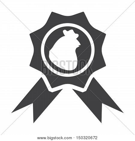 hen black simple icon on white background for web design