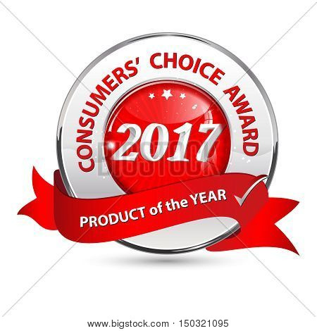 Consumers' choice award, Product of the year 2017 - - elegant ribbon / label