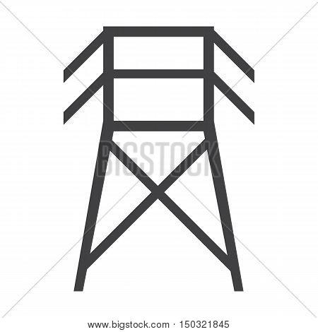 pillar black simple icon on white background for web design