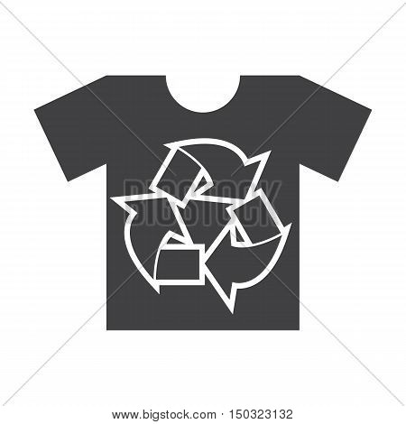 t shirt black simple icon on white background for web design