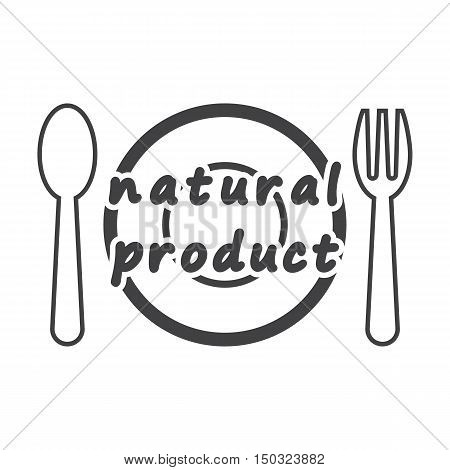 plate black simple icon on white background for web design
