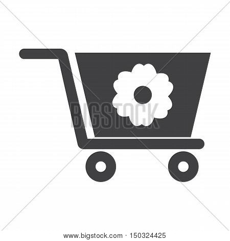 truck black simple icon on white background for web design