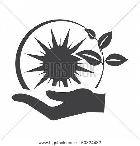 sun black simple icon on white background for web design