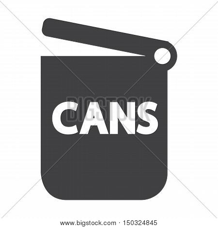 dumpster black simple icon on white background for web design