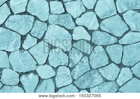 abstract texture of a facing stone of blue color for a background or for wallpaper