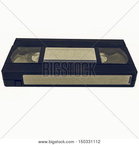 Vintage Looking Vhs Tape Cassette