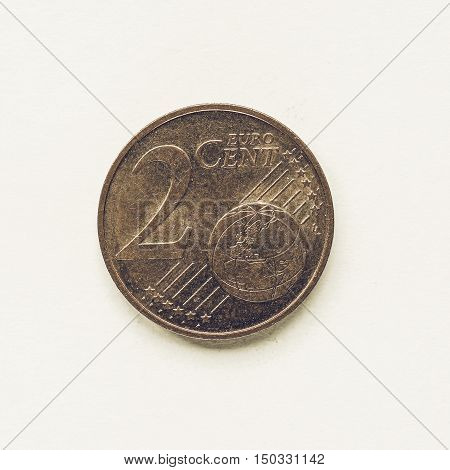 Vintage 2 Cent Coin