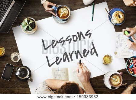 Lesson Learned Mistakes Motivation Concept