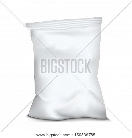 White Blank Foil Food Snack. Vector EPS10
