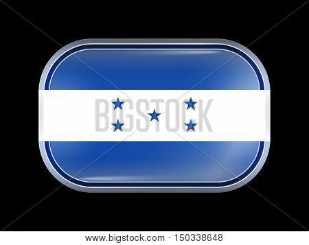 Flag Of Honduras. Rectangular Shape With Rounded Corners