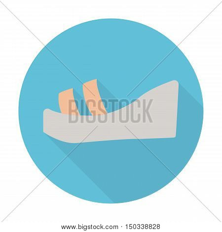 sandals flat icon with long shadow for web design